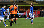 Dundee United v St Johnstone…12.01.21   Tannadice     SPFL<br />Chris Kane celebrates his goal<br />Picture by Graeme Hart.<br />Copyright Perthshire Picture Agency<br />Tel: 01738 623350  Mobile: 07990 594431