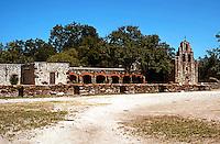 """San Antonio:  Mission San Francisco de Espada or simply """"Espada"""", 1731. The southernmost of San Antonio Missions."""