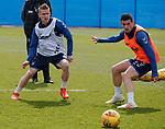 09.05.2019 Rangers training: Steven Davis and Graham Dorrans