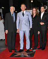 LOS ANGELES, CA. October 06, 2021: Michael G. Wilson, Daniel Craig, Barbara Broccoli & Rami Malek on Hollywood Boulevard where he was honored with a star on the Hollywood Walk of Fame. <br /> Picture: Paul Smith/Featureflash