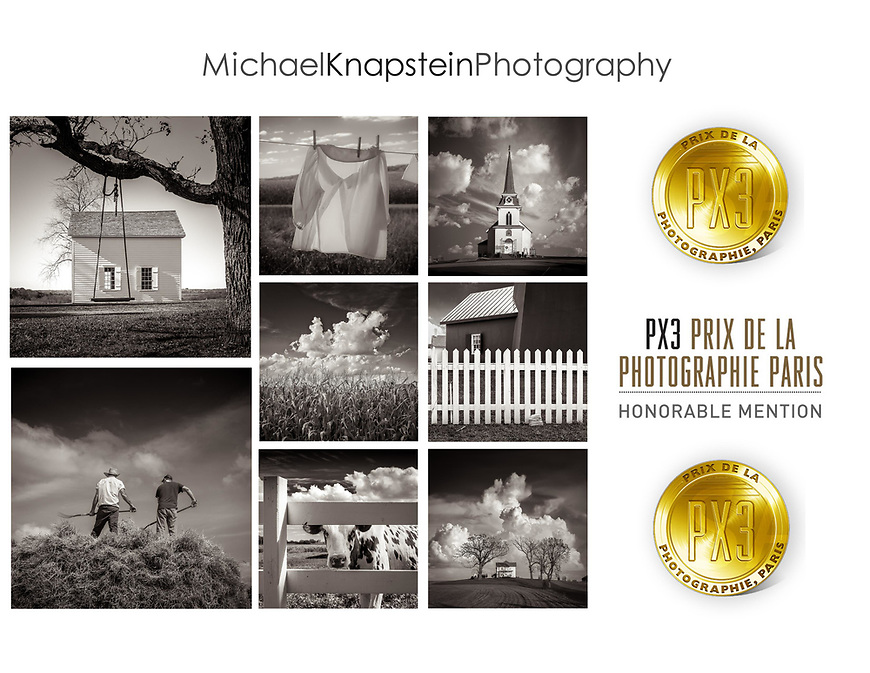 Eight images by Wisconsin photographer Michael Knapstein won Honorable Mention Awards for Fine Art Landscape in the Prix de la Photographie Paris (PX3) international competition.