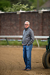 LOUISVILLE, KY - MAY 02: Trainer Todd Pletcher watches his horses school at the starting gate for the Kentucky Derby at Churchill Downs on May 2, 2018 in Louisville, Kentucky. (Photo by Alex Evers/Eclipse Sportswire/Getty Images)