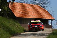 23rd April 2021; Zagreb, Croatia; WRC Rally of Croatia, stages 1-8;  M.Otsberg - Citroen C3 WRC2
