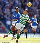 12.05.2019 Rangers v Celtic: Jermain Defoe and Jozo Simunovic