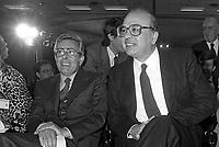 - Arnaldo Forlani ( Democrazia Cristiana ) and Bettino Craxi ( Partito Socialista Italiano ) a Milano, aprile 1984<br /> <br /> - Arnaldo Forlani ( Christian Democrats ) and Bettino Craxi ( Italian Socialist Party ) in Milan, April 1984