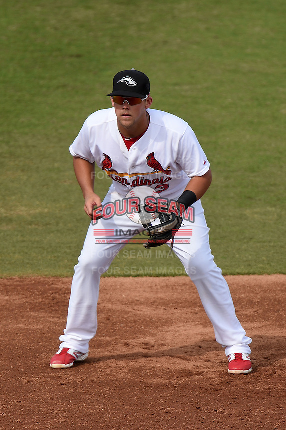 Peoria Javelinas infielder Jacob Wilson (3) during an Arizona Fall League game against the Scottsdale Scorpions on October 18, 2014 at Surprise Stadium in Surprise, Arizona.  Peoria defeated Scottsdale 4-3.  (Mike Janes/Four Seam Images)