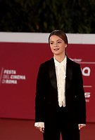 """Italian actress Cristina Magnotti poses on the red carpet for the screening of the film """"Fortuna"""" during the 15th Rome Film Festival (Festa del Cinema di Roma) at the Auditorium Parco della Musica in Rome on October 19, 2020.<br /> UPDATE IMAGES PRESS/Isabella Bonotto"""