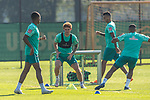 22.09.2020, Trainingsgelaende am wohninvest WESERSTADION - Platz 12, Bremen, GER, 1.FBL, Werder Bremen Training<br /> <br /> Joshua Sargent (Werder Bremen #19)<br /> Davie Selke  (SV Werder Bremen #09)<br /> Felix Agu (Werder Bremen / Neuzugang 17)<br /> Querformat<br /> <br /> <br /> <br /> Foto © nordphoto / Kokenge