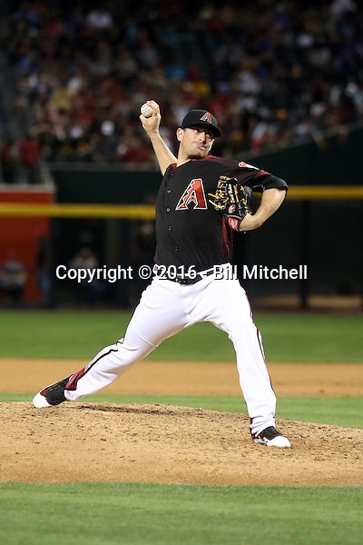 Daniel Hudson - 2016 Arizona Diamondbacks (Bill Mitchell)