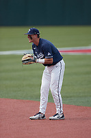 Liberty Flames second baseman Will Wagner (17) on defense against the Bellarmine Knights at Liberty Baseball Stadium on March 9, 2021 in Lynchburg, VA. (Brian Westerholt/Four Seam Images)