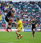 Beaudein Waaka. The All Blacks Sevens beat Australia 24-10. London, England. Photo: Marc Weakley