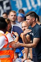 Hertha Berlin BSC fans engaging with stewards during the pre season friendly match between Crystal Palace and Hertha BSC at Selhurst Park, London, England on 3 August 2019. Photo by Carlton Myrie / PRiME Media Images.