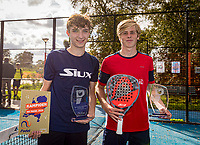 Netherlands, September 6,  2020, Amsterdam, Padel Dam, NK Padel, National Padel Championships, Winners boys double under 16 years:  Danill van Dijk (NED) andThijs Roper (NED)<br /> Photo: Henk Koster/tennisimages.com