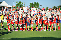 Boyds, MD - Saturday June 25, 2016: Washington Spirit prior to a United States National Women's Soccer League (NWSL) match between the Washington Spirit and Sky Blue FC at Maureen Hendricks Field, Maryland SoccerPlex.