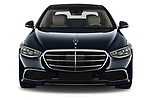 Car photography straight front view of a 2021 Mercedes Benz S-Class S-350 4 Door Sedan Front View