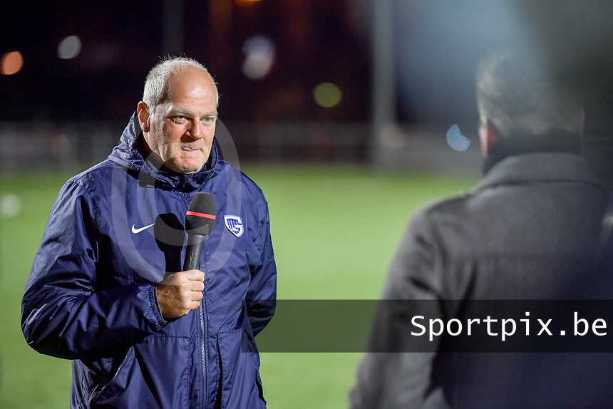 head coach Guido Brepoels of KRC Genk interviewed before a female soccer game between  Racing Genk Ladies and Club Brugge YLA on the 10 th matchday of the 2020 - 2021 season of Belgian Scooore Womens Super League , friday 18 th of December 2020  in Genk , Belgium . PHOTO SPORTPIX.BE | SPP | STIJN AUDOOREN
