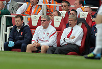 Pictured: Arsène Wenger Manager of Arsenal. Saturday 10 September 2011<br /> Re: Premiership Arsenal v Swansea City FC at the Emirates Stadium, London.