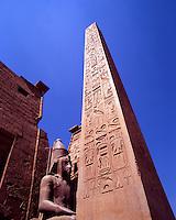 Egypt. Luxor. Temple of Amon-Ra and Obelisk of Ramses 11