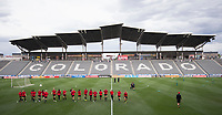 Denver, CO - September 14, 2017: The USWNT trains at Dick's Sporting Goods Park before their friendly against New Zealand.