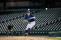 AZL Brewers relief pitcher Tyler Thorne (52) delivers a pitch during a game against the AZL Cubs on August 6, 2017 at Sloan Park in Mesa, Arizona. AZL Cubs defeated the AZL Brewers 8-7. (Zachary Lucy/Four Seam Images)
