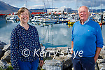 Enjoying a stroll at the Fenit Harbour on Sunday, l to r: Catherine Needham and Denis Burns.