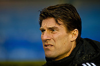 Saturday 25 January 2014<br /> Pictured: Michael Laudrup, Manager of Swansea City<br /> Re: Birmingham City v Swansea City FA Cup fourth round match at St. Andrew's Birimingham