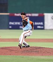 Aaron Phillips participates in the 2019 California League All-Star Game at San Manuel Stadium on June 18, 2019 in San Bernardino, California (Bill Mitchell)