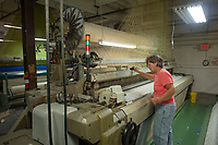 looms at Bates Fabric, Monmouth, ME