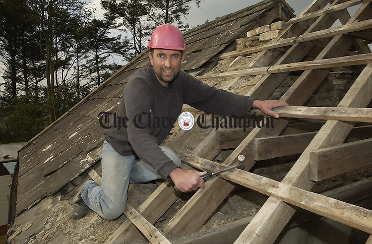 Ennistymon builder Tony Snare who is going to Capetown to help out with the Niall Mellon building project. Photograph by John Kelly.