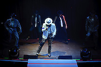 Michael Firestone performing as Michael Jackson at Voodoo Lounge of Harrah's Casino in Maryland Heights, MO on July 15, 2010.