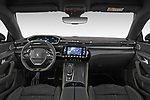 Stock photo of straight dashboard view of 2021 Peugeot 508-PSE PSE-PHEV 5 Door Hatchback Dashboard