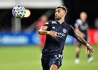 LAKE BUENA VISTA, FL - JULY 26: Valentín Castellanos of New York City FC during a game between New York City FC and Toronto FC at ESPN Wide World of Sports on July 26, 2020 in Lake Buena Vista, Florida.