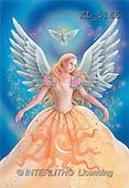 Interlitho, Lorella, FANTASY, paintings, angel, 2 doves, KL, KL5145,#fantasy# illustrations, pinturas