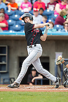 Great Lakes Loons outfielder Jeremy Rathjen #13 bats during a game against the Quad Cities River Bandits at Modern Woodmen Park on April 29, 2013 in Davenport, Iowa. (Brace Hemmelgarn/Four Seam Images)