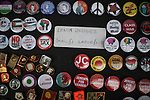 © Joel Goodman - 07973 332324 . 27/09/2016 . Liverpool , UK . A stall selling Jeremy Corbyn badges outside the conference centre during the third day of the Labour Party Conference at the ACC Liverpool . Photo credit : Joel Goodman
