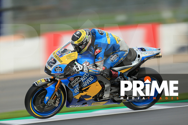 Thomas Luthi (12) of the EG 0 0 Marc VDS (Honda) race team during the GoPro British MotoGP at Silverstone Circuit, Towcester, England on 26 August 2018. Photo by Chris Brown / PRiME Media Images