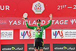 David Dekker (NED) Jumbo-Visma wins the points Green Jersey classification at the end of Stage 7 of the 2021 UAE Tour running 165km from Yas Island to Abu Dhabi Breakwater, Abu Dhabi, UAE. 27th February 2021.<br /> Picture: LaPresse/Gian Mattia D'Alberto   Cyclefile<br /> <br /> All photos usage must carry mandatory copyright credit (© Cyclefile   LaPresse/Gian Mattia D'Alberto)