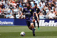 ST PAUL, MN - JULY 18: Joao Paulo #6 of the Seattle Sounders FC during a game between Seattle Sounders FC and Minnesota United FC at Allianz Field on July 18, 2021 in St Paul, Minnesota.