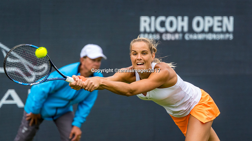 Den Bosch, Netherlands, 12 June, 2017, Tennis, Ricoh Open, Arantxa Rus (NED)<br /> Photo: Henk Koster/tennisimages.com