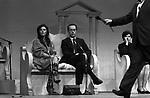 AGOSTINA BELLI CON AMEDEO D'AOSTA <br /> OSPITI DEL MAURIZIO COSTANZO SHOW AL TEATRO PARIOLI ROMA 1984