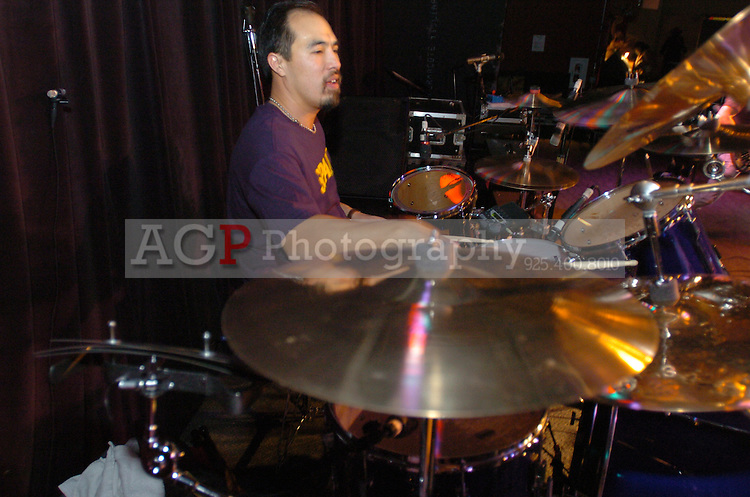The Bell Brothers Band including Russ and Scott Bell perform at the Saddle Rack in Fremont, Calif.,  Saturday January 26, 2008.   (Photo by Alan Greth)