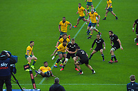 NZ's Codie Taylor takes the ball up during the Bledisloe Cup rugby union match between the New Zealand All Blacks and Australia Wallabies at Sky Stadium in Wellington, New Zealand on Sunday, 11 October 2020. Photo: Dave Lintott / lintottphoto.co.nz
