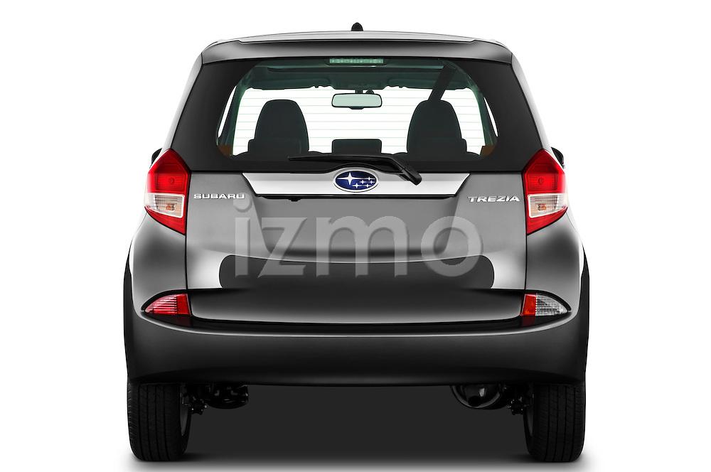 Straight rear view of a 2011 Subaru Trezia Comfort 5 Door Hatchback