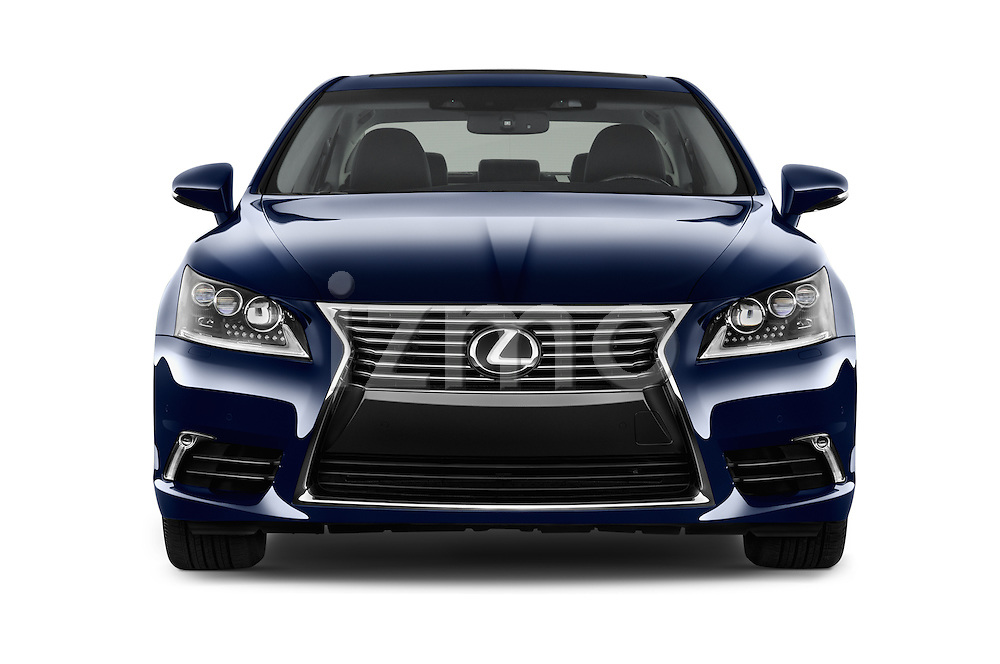 Car photography straight front view of a 2016 Lexus LS L 4 Door Sedan 2WD Front View