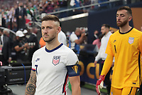 LAS VEGAS, NV - AUGUST 1: Paul Arriola #7 of the United States before a game between Mexico and USMNT at Allegiant Stadium on August 1, 2021 in Las Vegas, Nevada.