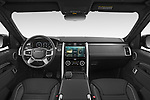 Stock photo of straight dashboard view of 2021 Land Rover Discovery R-Dynamic-HSE 5 Door SUV Dashboard
