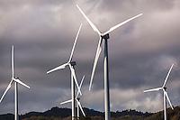 Wind turbines at the Kahuku Wind Farm, Kahuku, O'ahu.