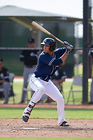 San Diego Padres outfielder Agustin Ruiz (68) at bat during an Instructional League game against the Chicago White Sox on September 26, 2017 at Camelback Ranch in Glendale, Arizona. (Zachary Lucy/Four Seam Images)