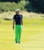 Johan CARLSSON (SWE)  during the quarter final round of the Aberdeen Asset Management Paul Lawrie Matchplay being played over the Fidra Links at Archerfield, East Lothian from 4th to 7th August 2016:  Picture Stuart Adams, www.golftourimages.com: 06/08/2016