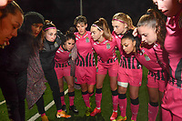 Charleroi players pictured ahead of a female soccer game between Sporting Charleroi and Eendracht Aalst on the 8th  matchday of the 2020 - 2021 season of Belgian Scooore Womens Super League , friday 20 th of November 2020  in Marcinelle , Belgium . PHOTO SPORTPIX.BE | SPP | DAVID CATRY